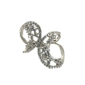 925 Sterling Silver CZ Diamond Cut Ring MGA - LRS1456