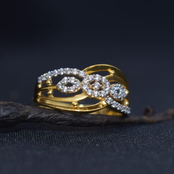 22KT Gold CZ Fancy Ring For Women MK-R15 by