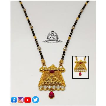 22 carat gold classical mangalsutra RH-MN363