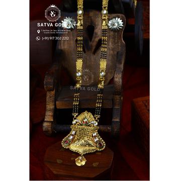 916 Gold Antique Mangalsutra AMG-013