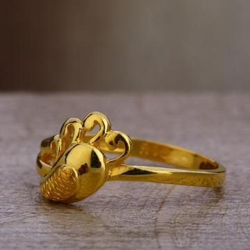 916 Gold Women's  Gorgeous Plain Ring LPR401