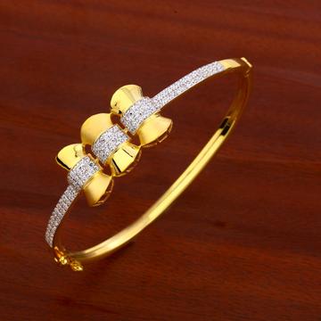 18CT CZ  Ladies Gold Kada Bracelet LKB168