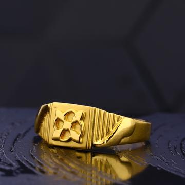 22kt gold hallmark delicate gentlemen's plain ring  mr743