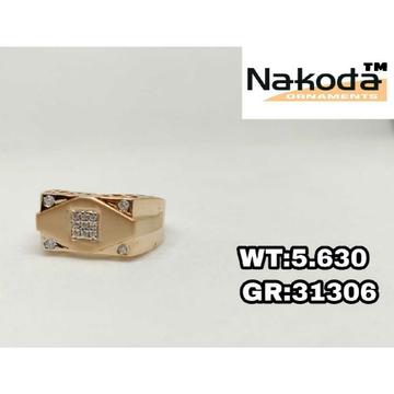 18k men's rose gold ring