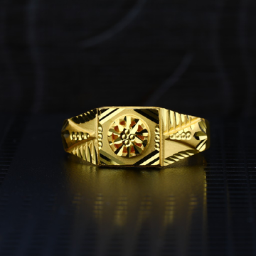 Men's Exclusive 22K Plain Casting Gold Ring- MPR59