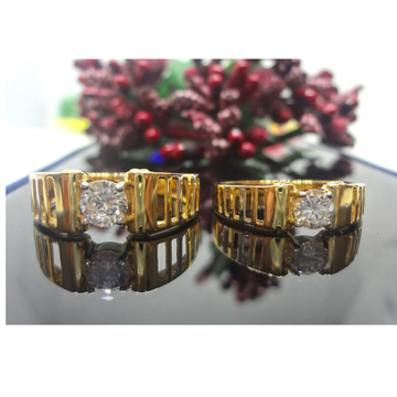 916 gOLD cZ COUPLE RING