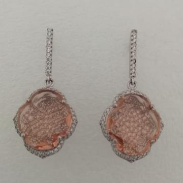 sterling silver diamond fancy earrings by Vinayak Gold