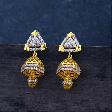 Ladies 22K Gold Jummar Fancy Earrings-LJE90