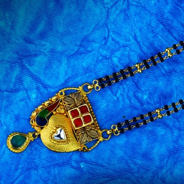 22kt gold color stone mangalsutra tj-m02 by
