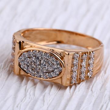 18KT Rose Gold CZ Mens Ring RMR91
