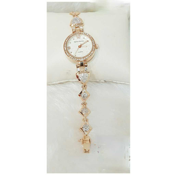 18k Ladies Fancy Rose Gold Watch G-2712