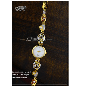 18 Carat Gold Ladies gold watch Titan Raga ywg0013 by