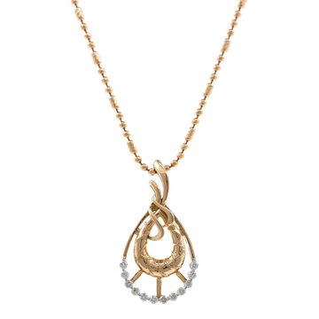 mignonne Tear Drop Diamond Pendant in 18k rose Gol...