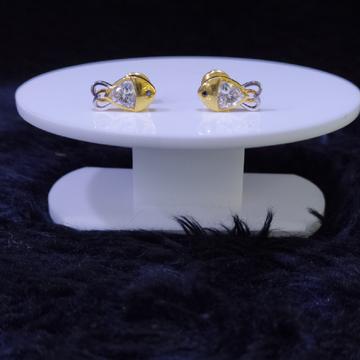 22KT/916 Yellow Gold Fish Earrings For Women