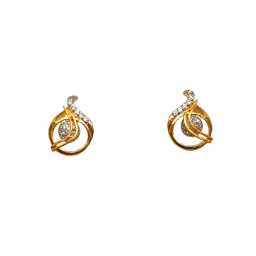 22K Gold CZ Diamond Designer Earrings MGA - BTG0485