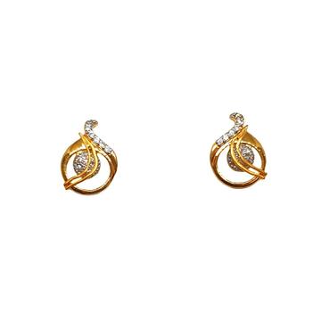 22K Gold CZ Diamond Designer Earrings MGA - BTG048...