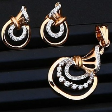 18 cart rose gold classical ladies pendants set RH-PS466