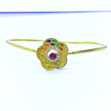 FANCY FLOWER GOLD KADA BRACELET