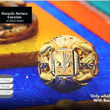 22K Fancy Design Nazaran Gold Ring JAR-003