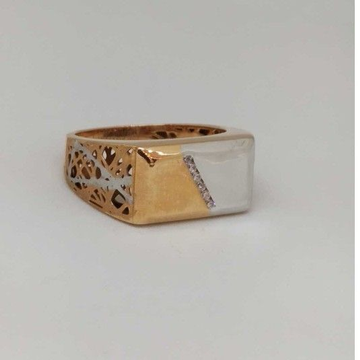 18 kt gold gents branded ring