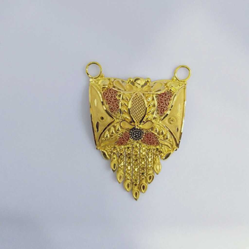 916 Gold Fancy Mangalsutra Pendants RJ-MP018