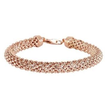 18kt rose gold bangle-style bracelet for women jkb031