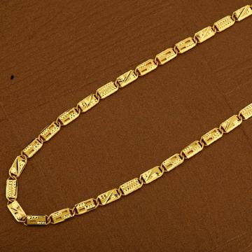 Mens Nawabi Gold Plain Casting 916 Chain-MNC16