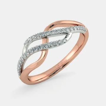 18k Rose Gold Diamond Ring by