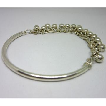 Silver 925 onesided ghunghru bracelet sb925-10