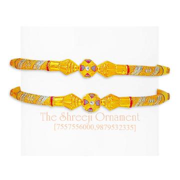 22Kt Gold Designer Modhiya Copper Kadali - 0025