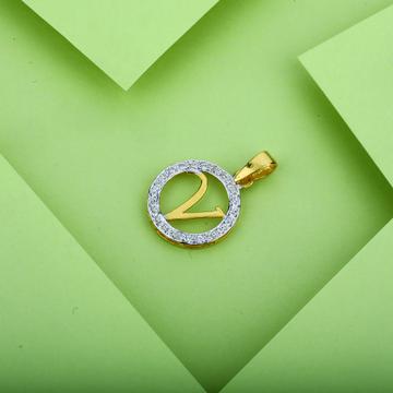 V Letter Gold 22K Pendant-LP06