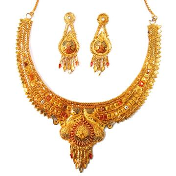 1 gram gold forming necklace set mga - gfn0013