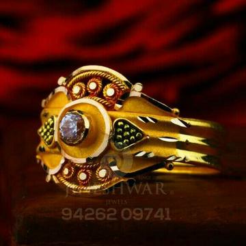 Fancy Women's Plain Gold Ladies Ring LRG -0814