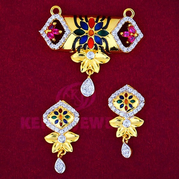 916 Gold Mangalsutra Pendal with Butti MSP-006