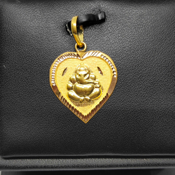 18Kt gold ganesha design pendant dj-p002 by