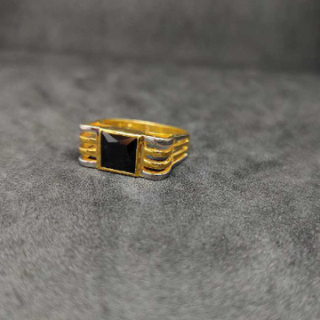 916 Men's Colour Stone Gold Ring