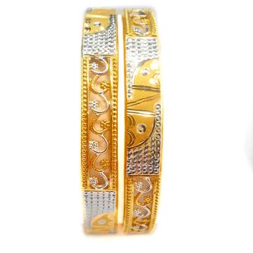22kt Gold Copper Kadli Bangles MGA - GK048