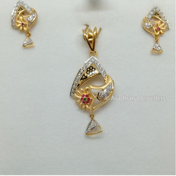 916 Gold Fancy Pendant Set