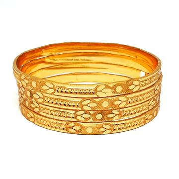 1 gram gold forming plain bangles mga - bge0393
