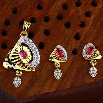 916 gold cz pendant Set ps-0002