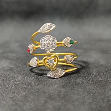 Women's Daily Wear Fancy Spring Gold Ring-24952