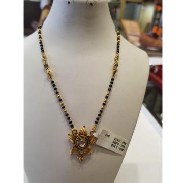 916 Gold Antique Flower Design Mangalsutra SVJ-M05