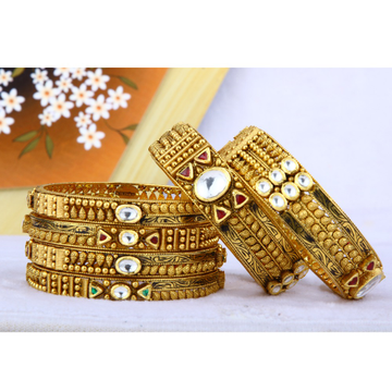 916 Gold Antique Bangles BGG - 0031