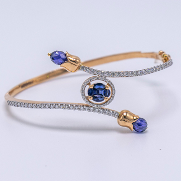 18K  gold round shaped blue diamond BRACELET  agj-lr-157