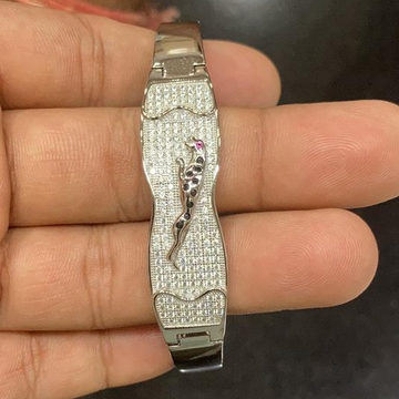 silver antique gents bracelet rh-GB663