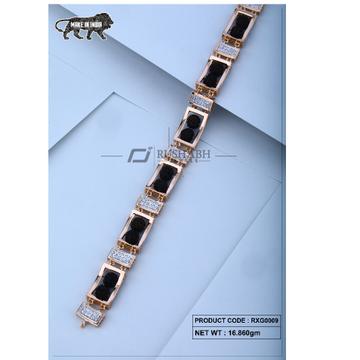 18 carat Rose gold rudraksh gents bracelet rxg0009 by