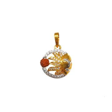 22K Gold Surya Rudraksh Pendant MGA - PDG0166