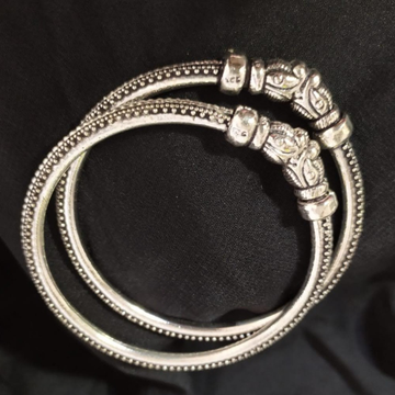 92.5 pure silver Antique Ladies Bangles in Light W...