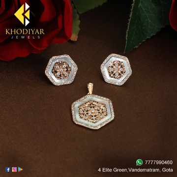916 Gold Flower Design Pendant Set KJ-PS004