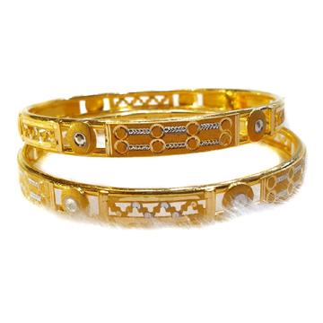 916 Gold Plain Gold Copper Kadli Bangles MGA - GK034